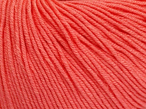 Fiber Content 60% Cotton, 40% Acrylic, Salmon, Brand ICE, Yarn Thickness 2 Fine  Sport, Baby, fnt2-51564