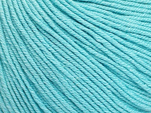 Fiber Content 60% Cotton, 40% Acrylic, Light Turquoise, Brand ICE, Yarn Thickness 2 Fine  Sport, Baby, fnt2-51565