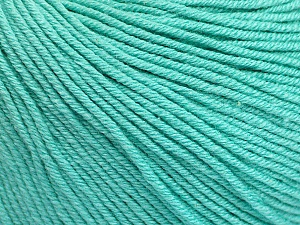 Fiber Content 60% Cotton, 40% Acrylic, Mint Green, Brand ICE, Yarn Thickness 2 Fine  Sport, Baby, fnt2-51566