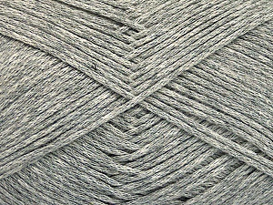 Fiber Content 100% Cotton, Light Grey Melange, Brand ICE, Yarn Thickness 2 Fine  Sport, Baby, fnt2-51569
