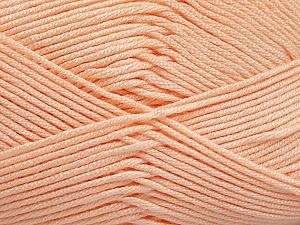 Fiber Content 50% Acrylic, 50% Bamboo, Light Orange, Brand ICE, Yarn Thickness 2 Fine  Sport, Baby, fnt2-51664