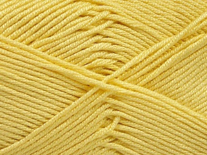 Fiber Content 50% Acrylic, 50% Bamboo, Yellow, Brand ICE, Yarn Thickness 2 Fine  Sport, Baby, fnt2-51665