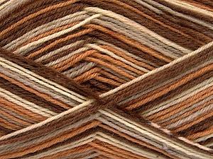 Fiber Content 75% Superwash Wool, 25% Polyamide, Brand ICE, Camel, Brown Shades, Yarn Thickness 1 SuperFine  Sock, Fingering, Baby, fnt2-51907