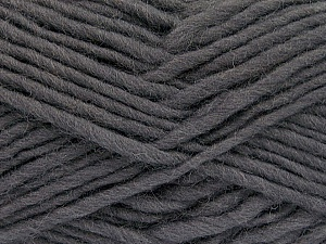 Fiber Content 100% Wool, Brand ICE, Dark Grey, Yarn Thickness 5 Bulky  Chunky, Craft, Rug, fnt2-51913