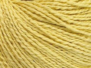Fiber Content 68% Cotton, 32% Silk, Yellow, Brand Ice Yarns, Yarn Thickness 2 Fine  Sport, Baby, fnt2-51928