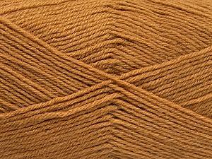 Fiber Content 60% Merino Wool, 40% Acrylic, Light Brown, Brand ICE, Yarn Thickness 2 Fine  Sport, Baby, fnt2-52130