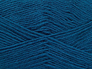 Fiber Content 60% Merino Wool, 40% Acrylic, Teal, Brand ICE, Yarn Thickness 2 Fine  Sport, Baby, fnt2-52352