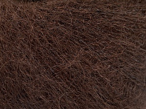 Fiber Content 52% SuperKid Mohair, 35% Polyamide, 13% Superwash Extrafine Merino Wool, Brand ICE, Dark Brown, Yarn Thickness 1 SuperFine  Sock, Fingering, Baby, fnt2-52757