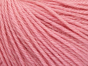 Fiber Content 55% Baby Alpaca, 45% Superwash Extrafine Merino Wool, Light Pink, Brand ICE, Yarn Thickness 3 Light  DK, Light, Worsted, fnt2-52769