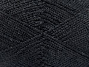 Baby cotton is a 100% premium giza cotton yarn exclusively made as a baby yarn. It is anti-bacterial and machine washable! Fiber Content 100% Giza Cotton, Brand ICE, Black, Yarn Thickness 3 Light  DK, Light, Worsted, fnt2-53062