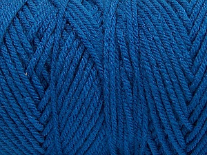 Items made with this yarn are machine washable & dryable. Fiber Content 100% Dralon Acrylic, Brand ICE, Blue, Yarn Thickness 4 Medium  Worsted, Afghan, Aran, fnt2-53328