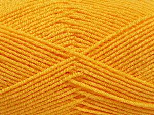 Fiber Content 50% Bamboo, 50% Acrylic, Yellow, Brand ICE, Yarn Thickness 2 Fine  Sport, Baby, fnt2-53331