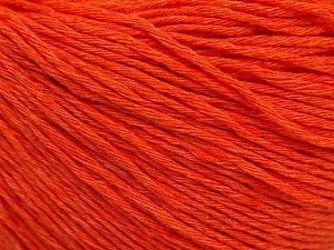 Fiber Content 100% Cotton, Orange, Brand ICE, Yarn Thickness 1 SuperFine  Sock, Fingering, Baby, fnt2-53345