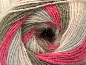 Fiber Content 60% Acrylic, 20% Wool, 20% Angora, Pink Shades, Light Grey, Khaki, Brand ICE, Yarn Thickness 2 Fine  Sport, Baby, fnt2-53559