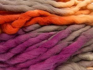 Fiber Content 100% Superwash Wool, Yellow, Purple, Orange, Brand ICE, Yarn Thickness 6 SuperBulky  Bulky, Roving, fnt2-53575