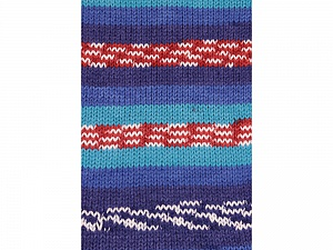 Fiber Content 100% Acrylic, White, Turquoise, Red, Brand ICE, Blue Shades, Yarn Thickness 4 Medium  Worsted, Afghan, Aran, fnt2-53782