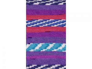 Fiber Content 100% Acrylic, White, Turquoise, Red, Purple Shades, Brand ICE, Blue, Yarn Thickness 4 Medium  Worsted, Afghan, Aran, fnt2-53783