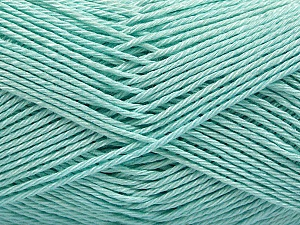 Fiber Content 100% Mercerised Cotton, Light Mint Green, Brand ICE, Yarn Thickness 2 Fine  Sport, Baby, fnt2-53796