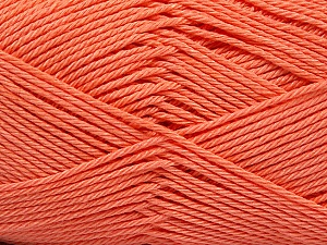 Fiber Content 100% Mercerised Cotton, Light Orange, Brand ICE, Yarn Thickness 2 Fine  Sport, Baby, fnt2-53802