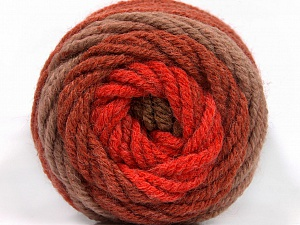 Fiber Content 70% Acrylic, 30% Wool, Red, Brand ICE, Copper, Brown Shades, Yarn Thickness 5 Bulky  Chunky, Craft, Rug, fnt2-54074