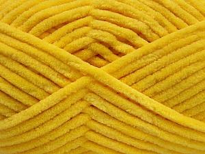 Fiber Content 100% Micro Fiber, Yellow, Brand ICE, Yarn Thickness 4 Medium  Worsted, Afghan, Aran, fnt2-54149