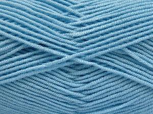 Fiber Content 50% Bamboo, 50% Acrylic, Brand ICE, Baby Blue, Yarn Thickness 2 Fine  Sport, Baby, fnt2-54232