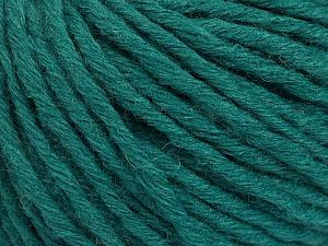 Fiber Content 55% Acrylic, 45% Wool, Brand ICE, Dark Green, Yarn Thickness 5 Bulky  Chunky, Craft, Rug, fnt2-54380