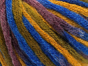 Fiber Content 50% Wool, 50% Acrylic, Maroon, Brand ICE, Green, Gold, Blue, Yarn Thickness 6 SuperBulky  Bulky, Roving, fnt2-54411