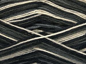 Fiber Content 75% Superwash Wool, 25% Polyamide, Brand ICE, Grey, Cream, Black, Yarn Thickness 1 SuperFine  Sock, Fingering, Baby, fnt2-54430