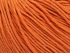 Global Organic Textile Standard (GOTS) Certified Product. CUC-TR-017 PRJ 805332/918191 Fiber Content 100% Organic Cotton, Orange, Brand ICE, Yarn Thickness 3 Light  DK, Light, Worsted, fnt2-54733