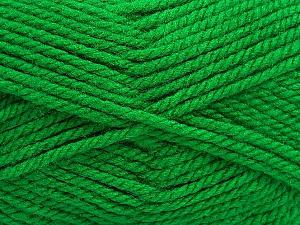 Bulky  Fiber Content 100% Acrylic, Brand ICE, Green, Yarn Thickness 5 Bulky  Chunky, Craft, Rug, fnt2-55104
