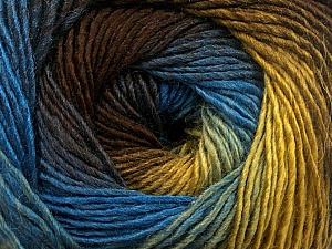 Fiber Content 50% Acrylic, 50% Wool, Brand ICE, Gold, Brown, Blue, Yarn Thickness 2 Fine  Sport, Baby, fnt2-55457