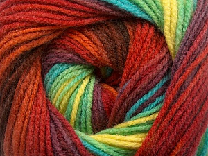 Fiber Content 100% Acrylic, Yellow, Turquoise, Red, Maroon, Brand ICE, Green, Burgundy, Yarn Thickness 3 Light  DK, Light, Worsted, fnt2-55958