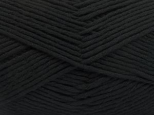 Fiber Content 50% SuperFine Acrylic, 50% SuperFine Nylon, Brand ICE, Black, Yarn Thickness 4 Medium  Worsted, Afghan, Aran, fnt2-56279