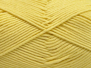 Fiber Content 50% SuperFine Acrylic, 50% SuperFine Nylon, Light Yellow, Brand ICE, Yarn Thickness 4 Medium  Worsted, Afghan, Aran, fnt2-56284