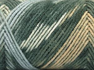 Fiber Content 50% Wool, 50% Acrylic, White, Light Brown, Light Blue, Brand ICE, Grey Shades, Yarn Thickness 3 Light  DK, Light, Worsted, fnt2-56443