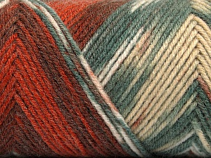 Fiber Content 50% Wool, 50% Acrylic, Brand ICE, Grey, Copper, Cafe Latte, Brown, Yarn Thickness 3 Light  DK, Light, Worsted, fnt2-56446