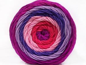 Fiber Content 100% Acrylic, Salmon, Pink, Lilac Shades, Brand ICE, Yarn Thickness 4 Medium  Worsted, Afghan, Aran, fnt2-56548