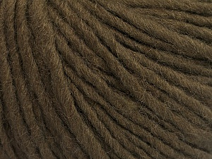 Fiber Content 50% Acrylic, 50% Wool, Brand ICE, Dark Brown, Yarn Thickness 4 Medium  Worsted, Afghan, Aran, fnt2-57006