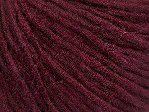 Fiber Content 50% Wool, 50% Acrylic, Brand ICE, Burgundy, Yarn Thickness 4 Medium  Worsted, Afghan, Aran, fnt2-57013