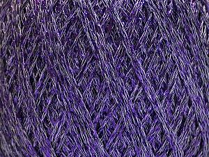 Fiber Content 75% Viscose, 25% Metallic Lurex, Lavender, Brand ICE, Yarn Thickness 2 Fine  Sport, Baby, fnt2-57027