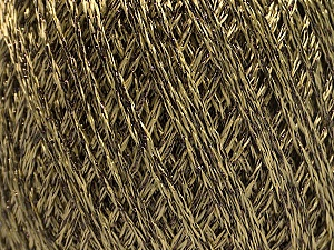 Fiber Content 85% Viscose, 15% Metallic Lurex, Light Olive Green, Brand ICE, Brown, Yarn Thickness 3 Light  DK, Light, Worsted, fnt2-57037