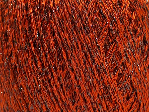 Fiber Content 85% Viscose, 15% Metallic Lurex, Orange, Brand ICE, Black, Yarn Thickness 3 Light  DK, Light, Worsted, fnt2-57042