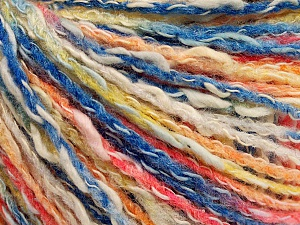 Fiber Content 50% Cotton, 50% Acrylic, Yellow, White, Salmon, Brand ICE, Blue, Yarn Thickness 4 Medium  Worsted, Afghan, Aran, fnt2-57274