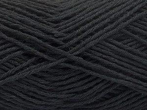 Fiber Content 100% Cotton, Brand ICE, Black, Yarn Thickness 2 Fine  Sport, Baby, fnt2-57291