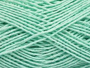 Fiber Content 100% Cotton, Light Mint Green, Brand ICE, Yarn Thickness 2 Fine  Sport, Baby, fnt2-57311