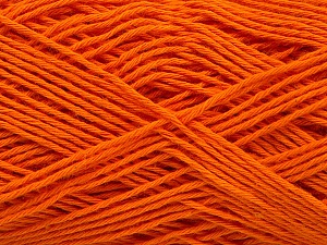 Fiber Content 100% Cotton, Brand ICE, Dark Orange, Yarn Thickness 2 Fine  Sport, Baby, fnt2-57318