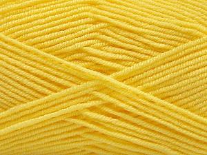 Fiber Content 50% Bamboo, 50% Acrylic, Yellow, Brand ICE, Yarn Thickness 2 Fine  Sport, Baby, fnt2-57393