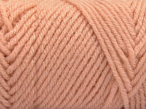 Items made with this yarn are machine washable & dryable. Fiber Content 100% Acrylic, Light Salmon, Brand ICE, Yarn Thickness 4 Medium  Worsted, Afghan, Aran, fnt2-57428