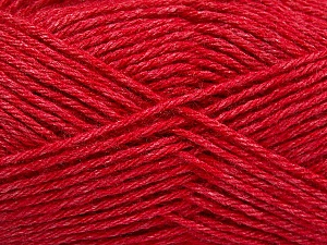 Fiber Content 65% Merino Wool, 35% Silk, Red, Brand ICE, Yarn Thickness 3 Light  DK, Light, Worsted, fnt2-57675